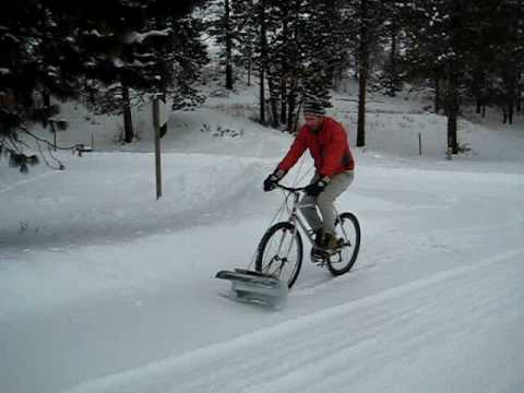 Bicycles And Motorcycle Snow Plows - Gallery   eBaum's World