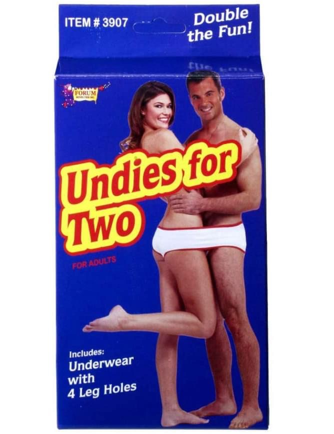 undies for two - Item # 3907 Double the Fun! Forum Undies for Two For Adults Includes Underwear with 4 Leg Holes