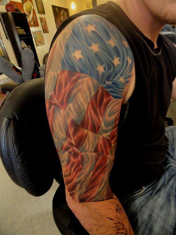 32 Badass Tattoos On Patriotic Americans Ftw Gallery Ebaums World