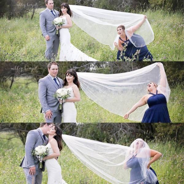 long veil shenanigans at a wedding