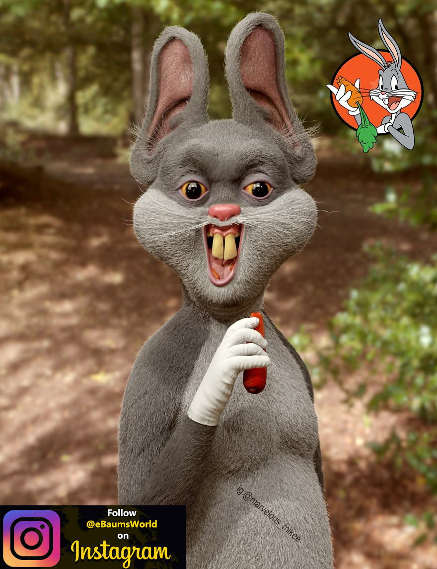 Artist Shows How Creepy Cartoon Characters Might Look In Real Life