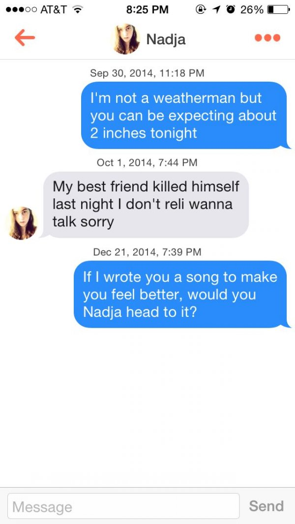 Awesome pick up lines for girls