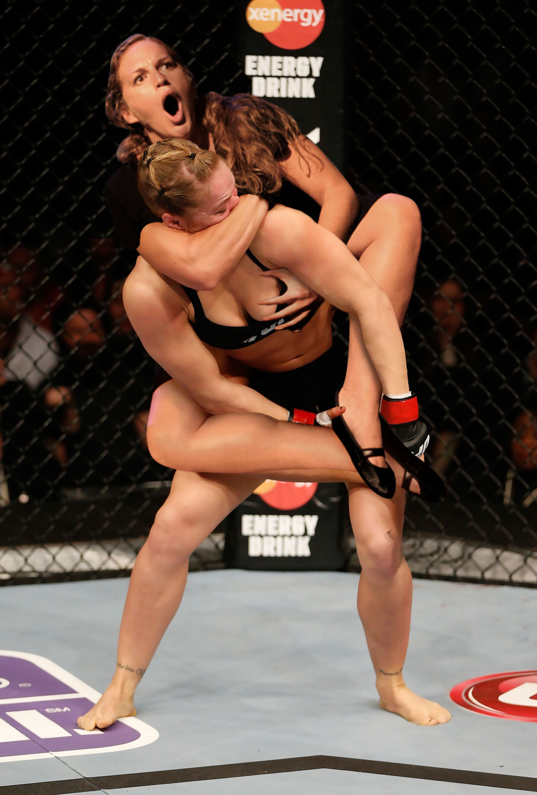 Ronda Rousey Rear Naked Choke