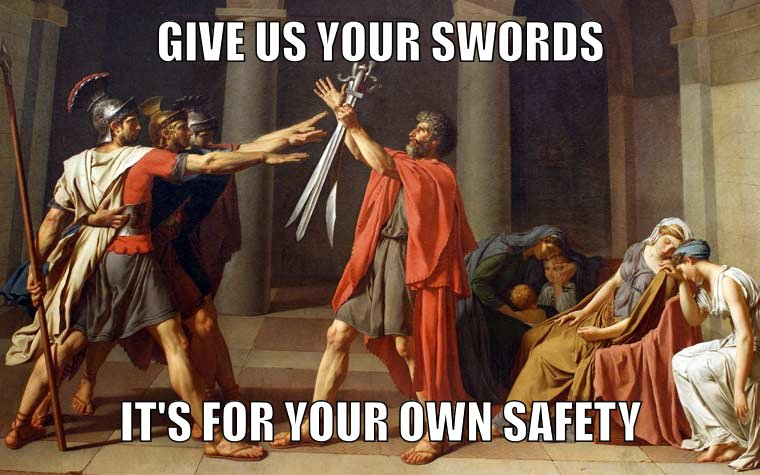 End sword violence by banning all swords.