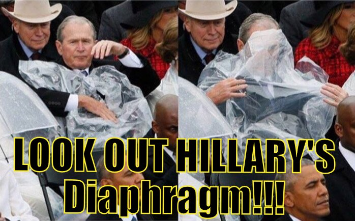 Hillary has a loose queef during the swearing in!