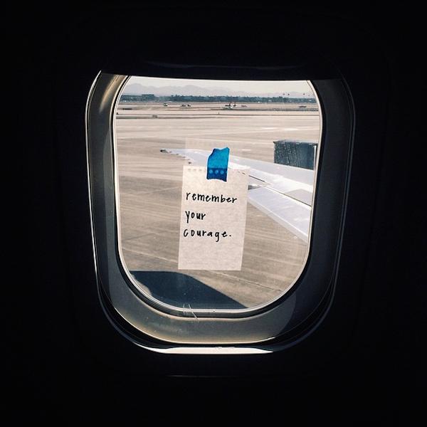 Flight Attendant Leaves Notes Of Encouragement For Her Passengers