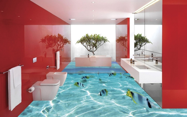 14 Amazing floors that look like water, the ocean, and ...