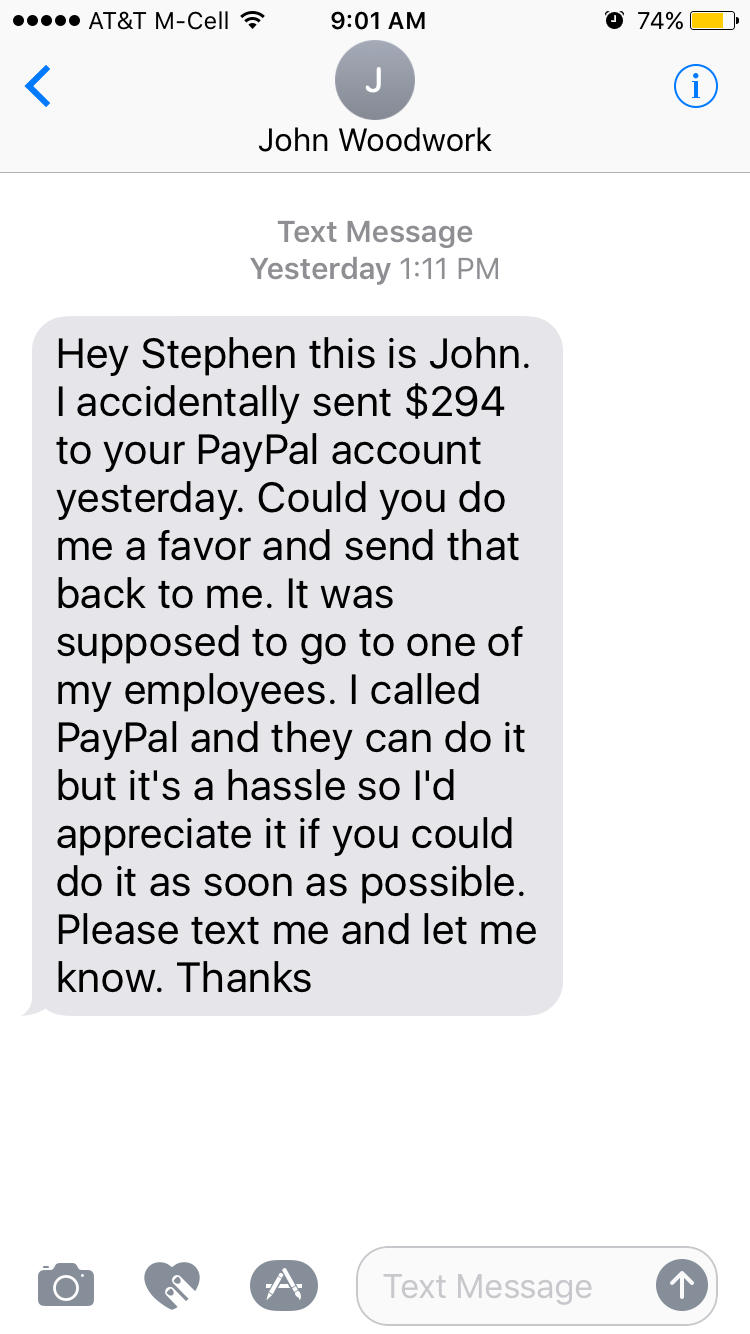 After Paying The Wrong Person Over Paypal, This Guy Just
