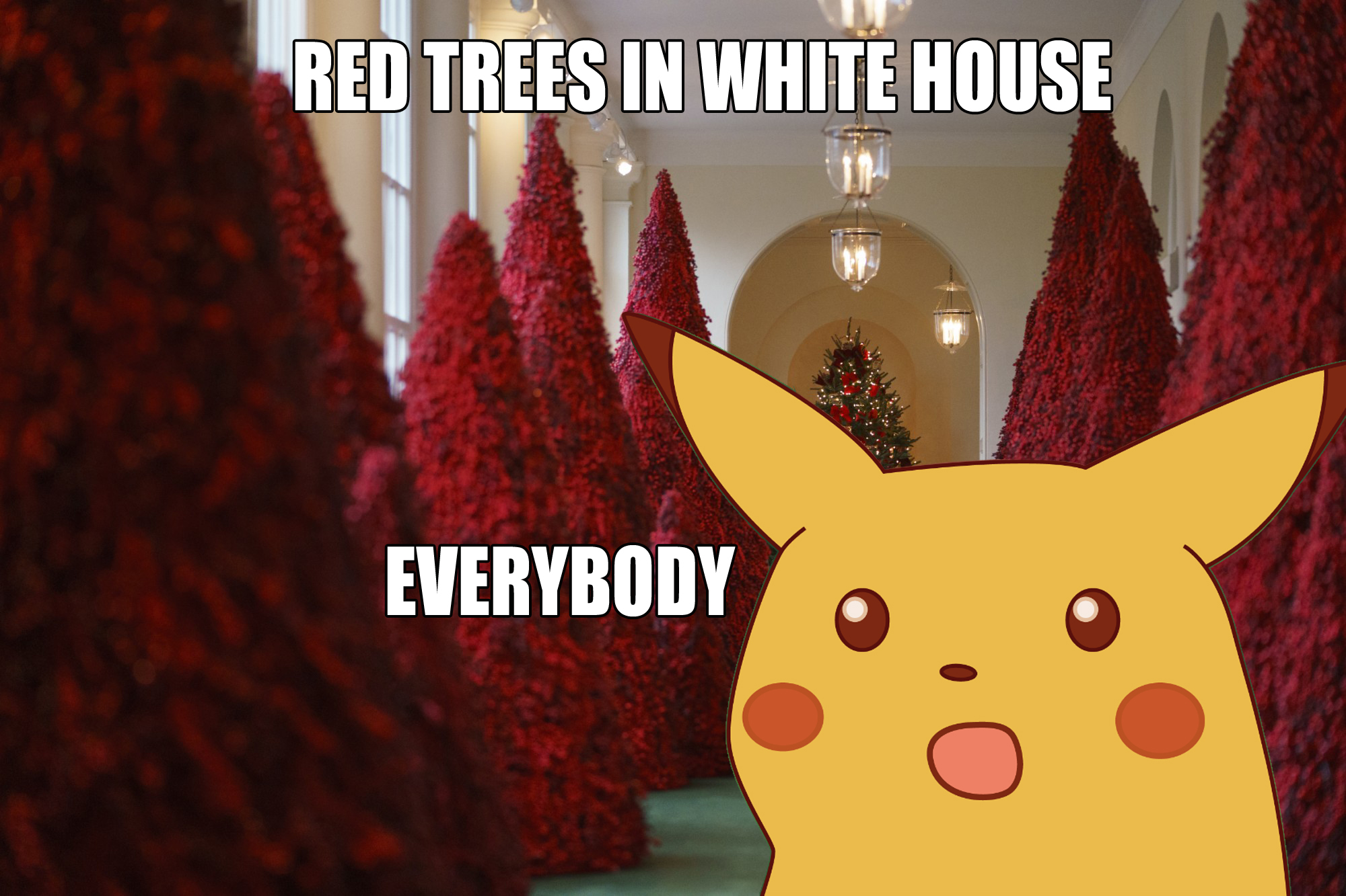 The trees are red