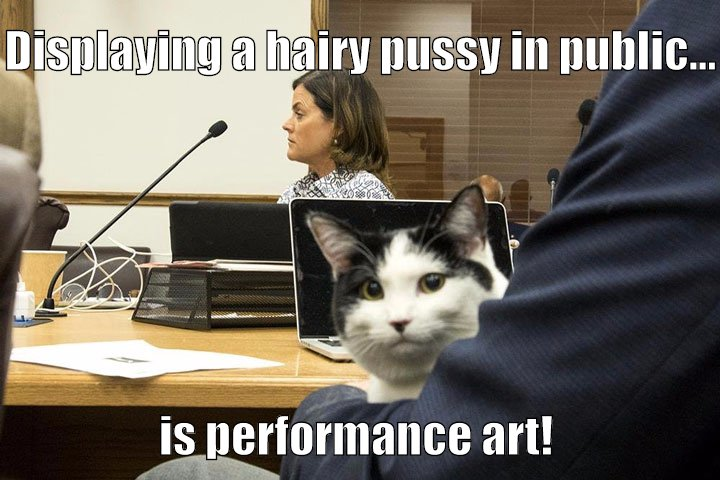 Even though the women probably has a hairy muff as well