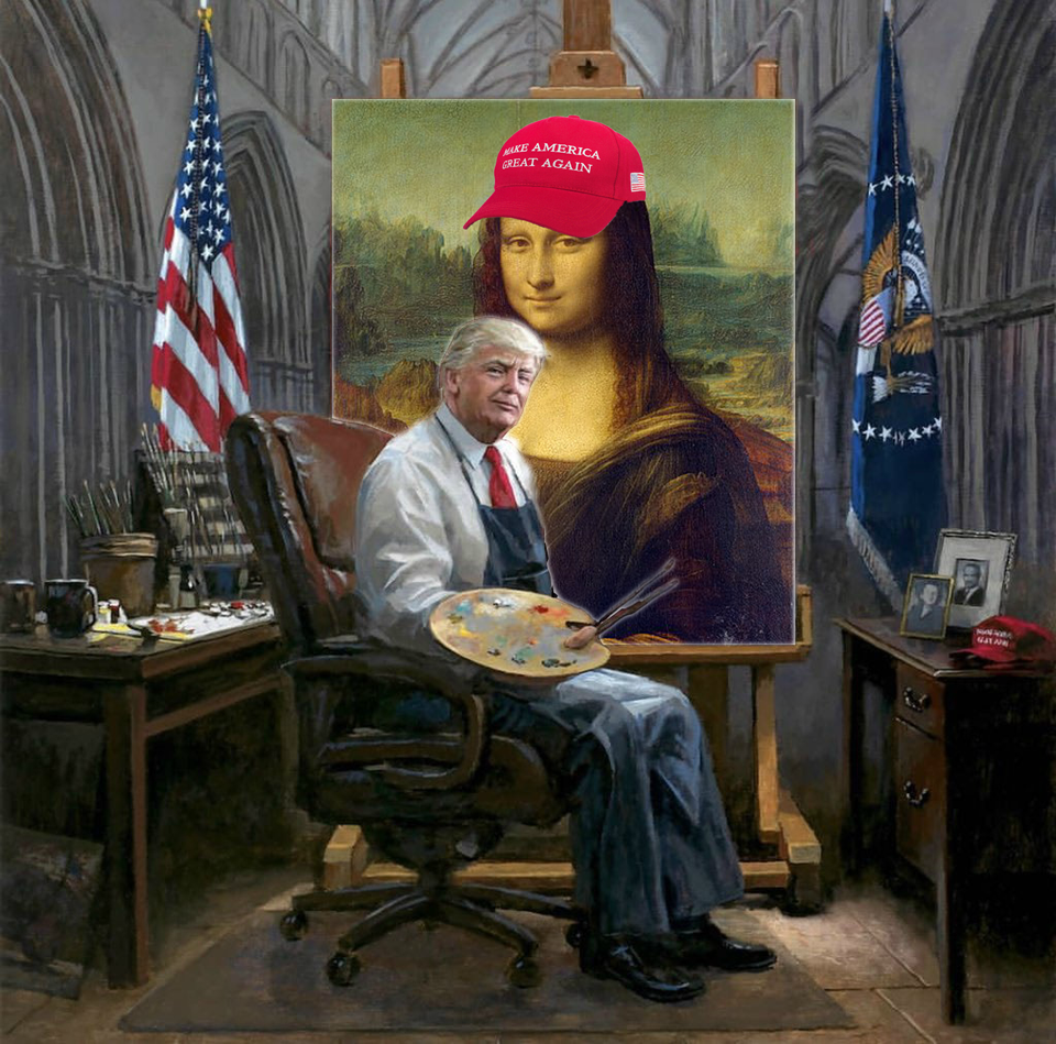 Trump turns an old, stale painting into a bigly masterpiece.