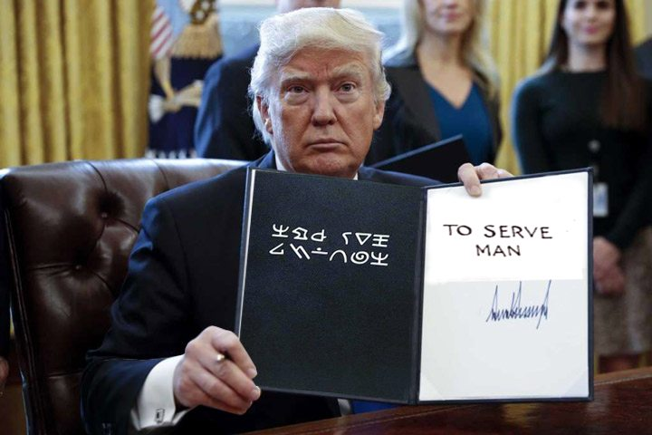Thank goodness I was able to decipher one of Trump's latest executive orders just in time!!