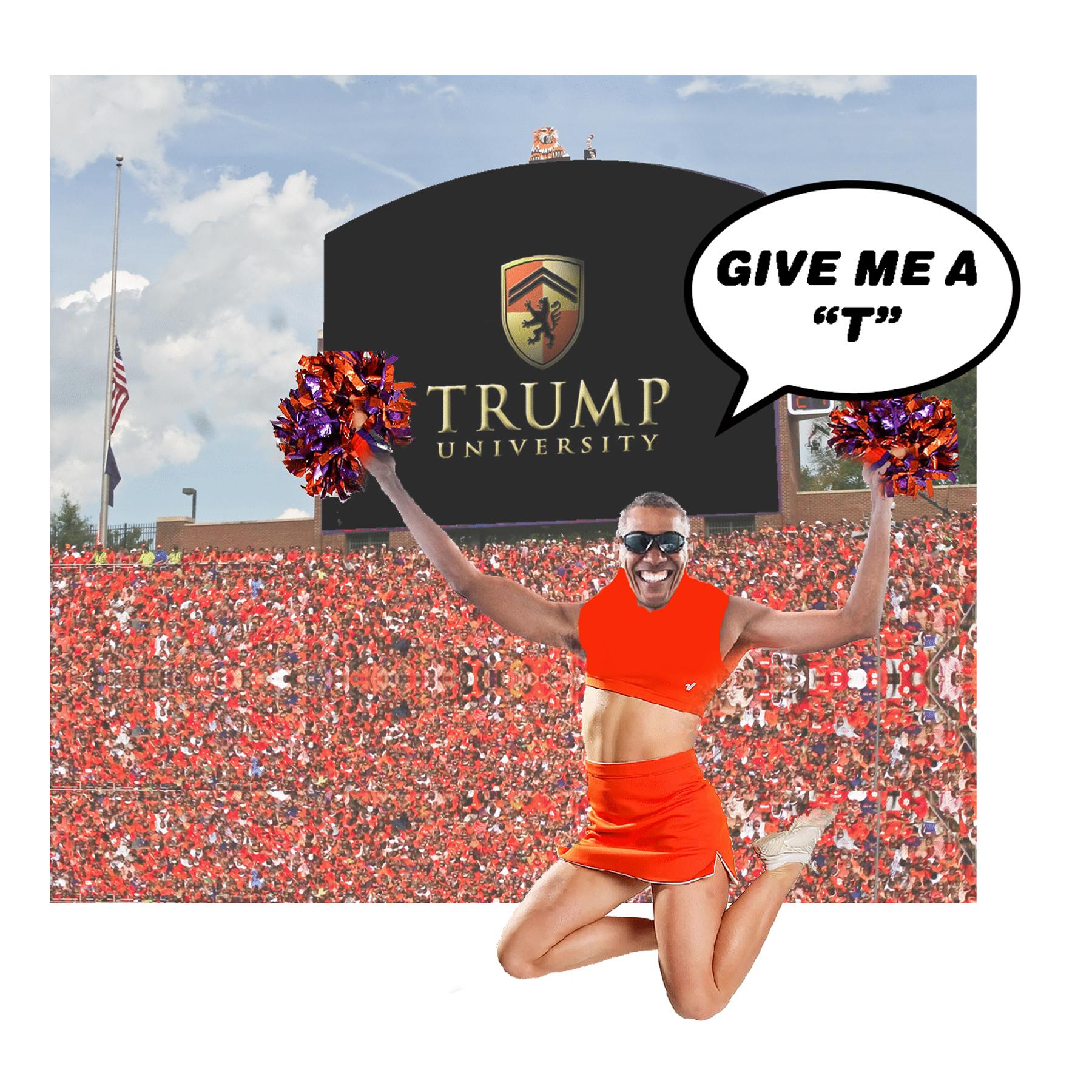 cheering Trump University?
