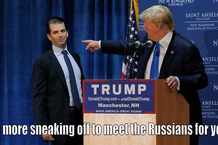 Trump Sr speaks to Trump Jr