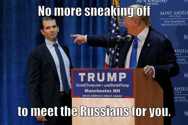 Trump Sr to Trump Jr