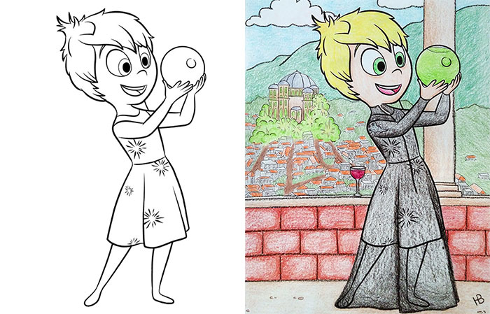 20 Coloring Book Pictures That Got Turned Naughty - Funny Gallery