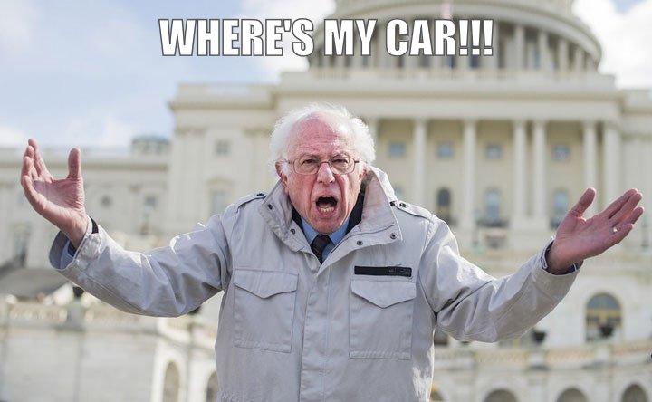 Old man lost car.
