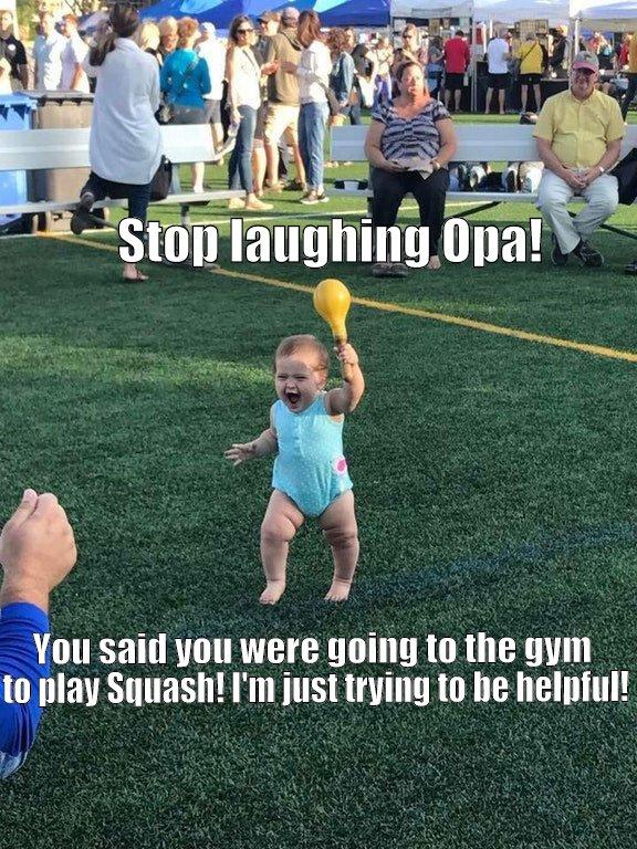 Hey Nadine dear? I've got the blue balls. Shall we go play Squash? *WINK WINK*