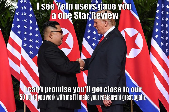 The Don confused about the purpose of stars on flags.