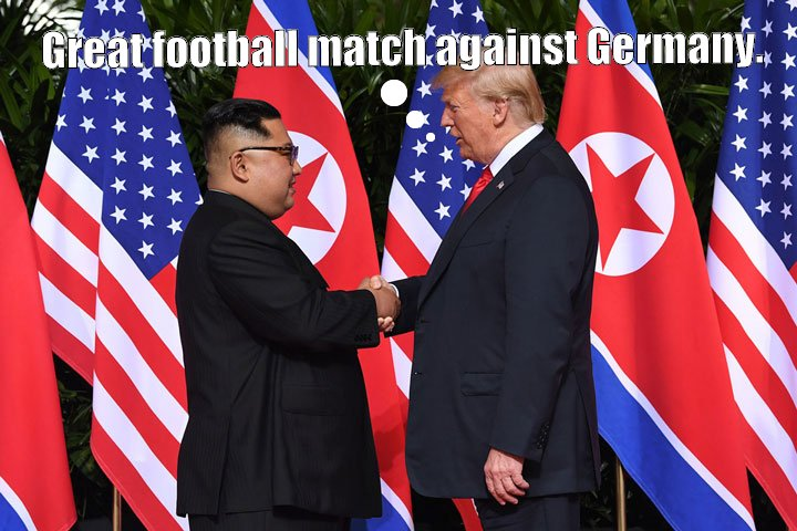 FIFA World Cup - 2:0 for South Korea against Germany