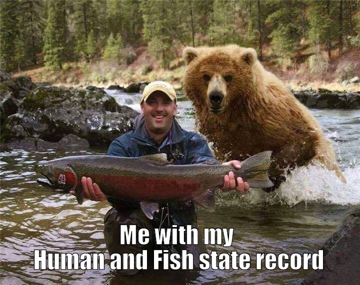 Human and Fish state record