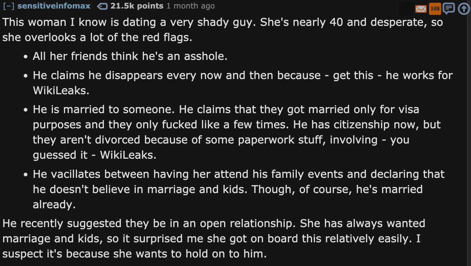 dating red flags reddit