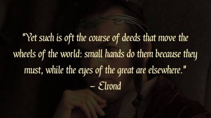 20 ever wise quotes from �the lord of the rings� feels