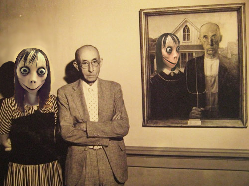 The original American Gothic Painting (with its original models)