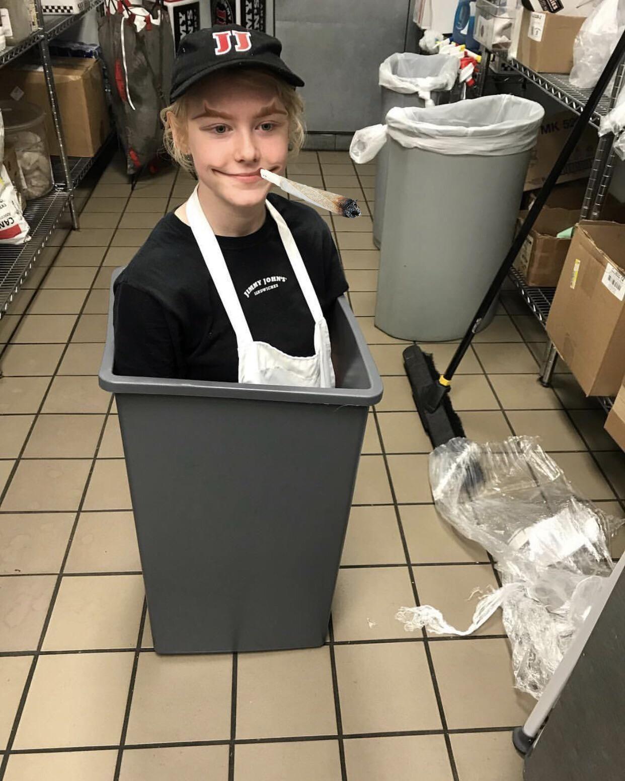 7 skinner à la poubeller