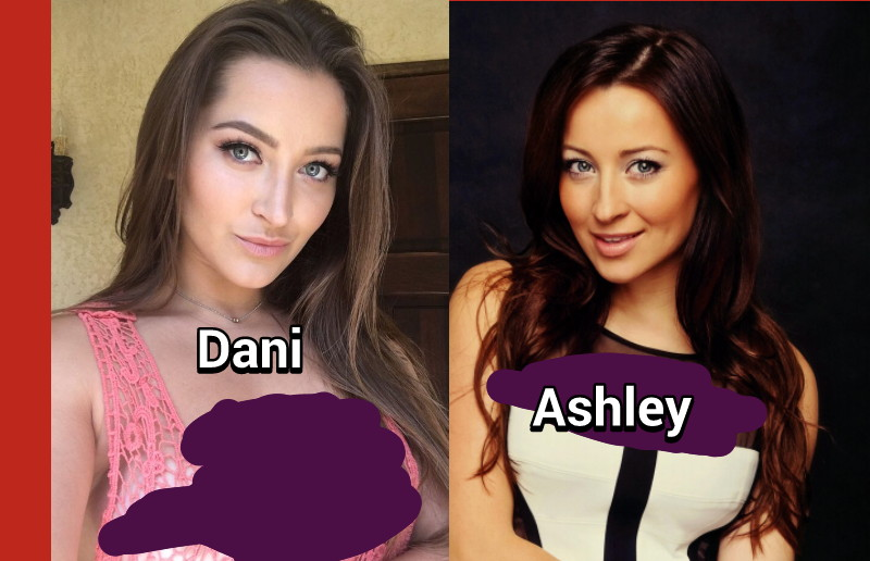 Adult  films  actress  dani daniels  and  Canadian  actress  Ashley  leggat .