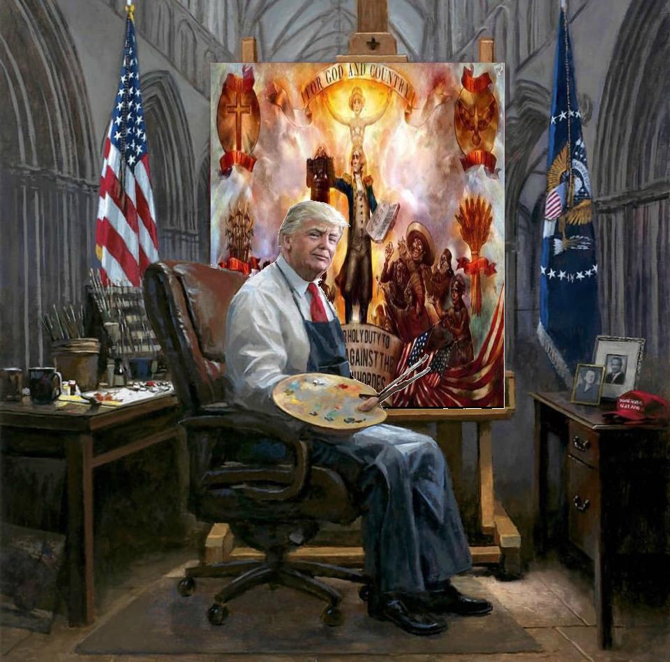 Trump Paints Bio shock infinite painting.