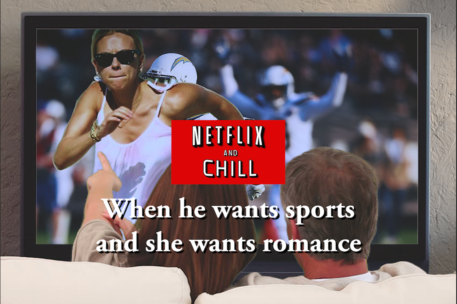 When he wants to watch sports, but she's in the mood for romance, Netflix has the new category just for you!