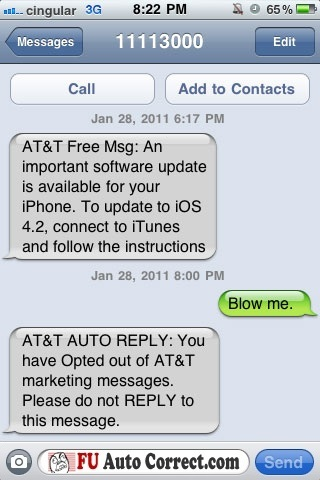 some funny iPhone auto-correct text messages - Gallery | eBaum's World