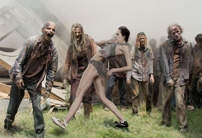 I saw here move and could only thing of the walking dead.
