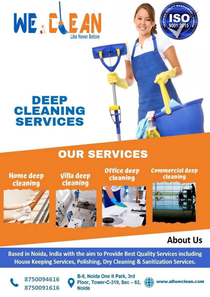 """"""" All We Clean provides most reliable & innovative housekeeping, Dry cleaning, Deep Cleaning & Polishing Service, Hire A Quality Hosuekeeping Staff. 100% Satisfaction. Excellent Services. On-Time Delivery."""""""