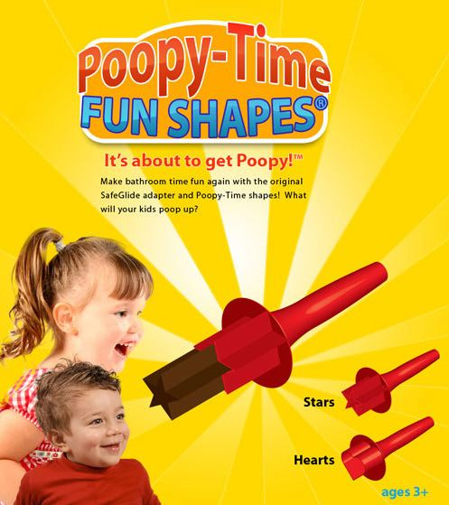 Make bathroom time fun again with the Poopy-Time.