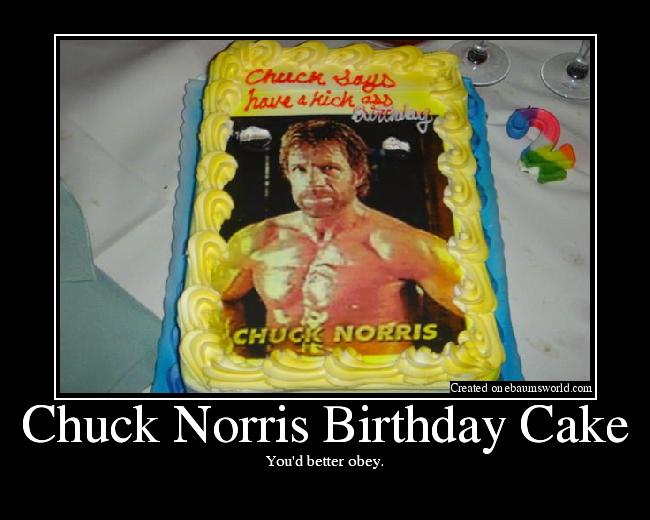Surprising Chuck Norris Birthday Cake Picture Personalised Birthday Cards Sponlily Jamesorg