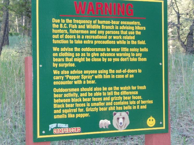 Grizzly bear sign found in Canada.