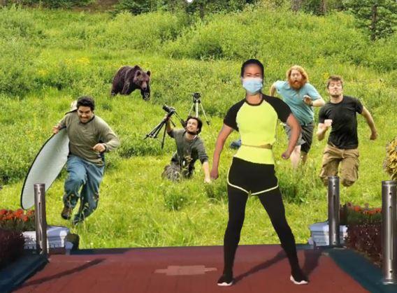 For oblivious aerobics instructor contest