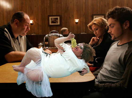 The final scene of the Sopranos and sexy being sexy.