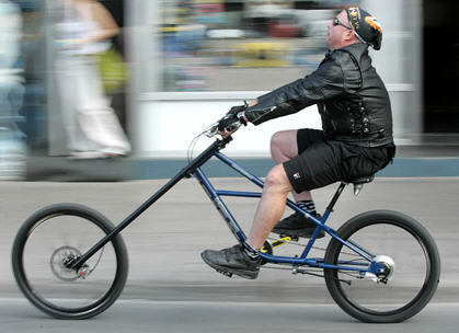 Crappy Home Made Chopper Bicycles