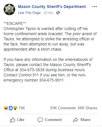 Facebook Roasts the Hell Out Of Short Legged Suspect Who Cut