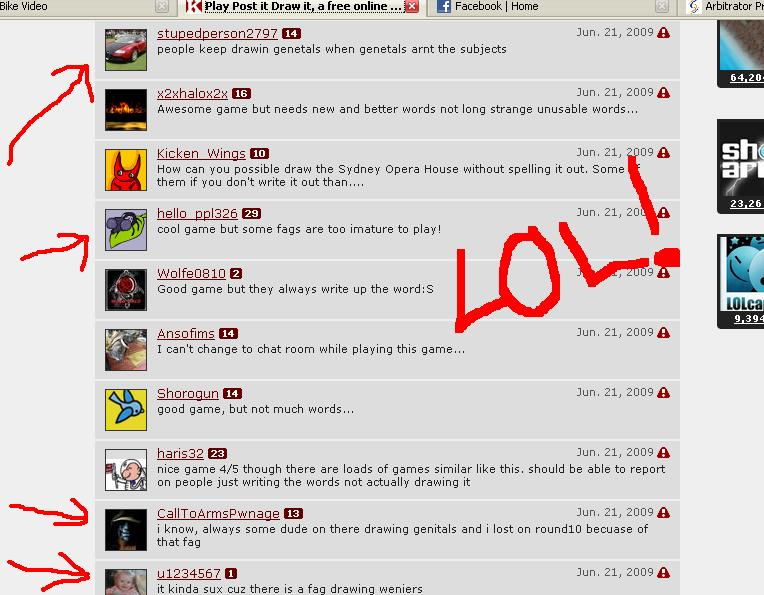 Hahahahahahaha - Check out some of the comments from our favorite game!!!!