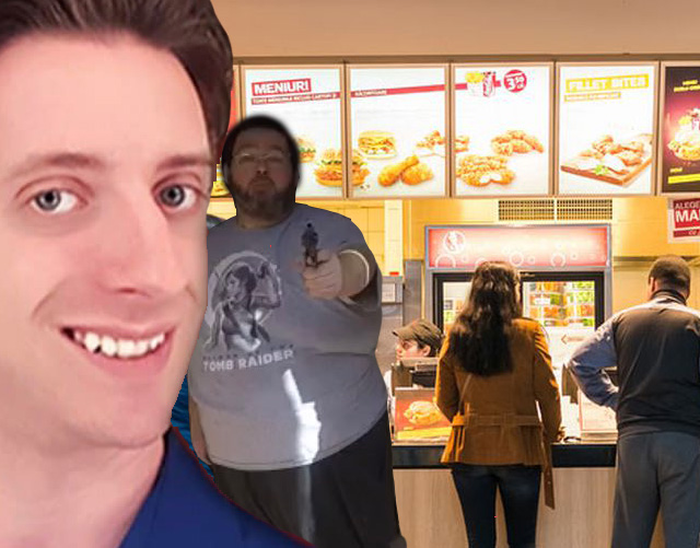 """mad man threatens youtube """"star"""" after trying to cut in line"""