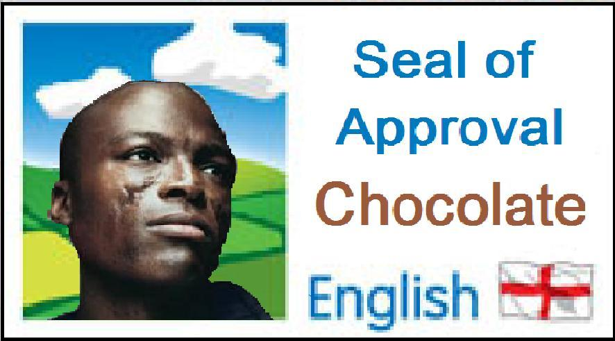Showing good quality chocolate, just like Seal's face