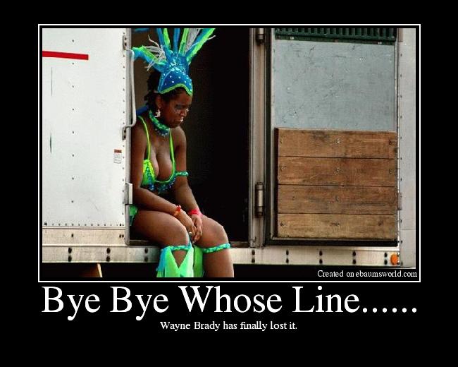 Wayne Brady has finally lost it.