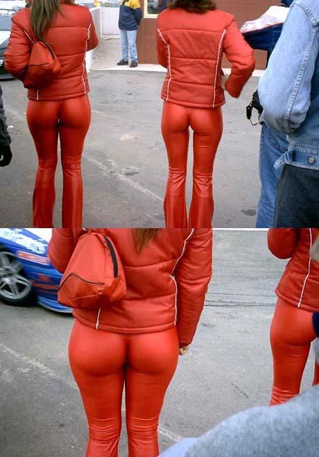 We are either looking at the tightest pants known to mankind or we are witnessing a nudist colony on Mars.