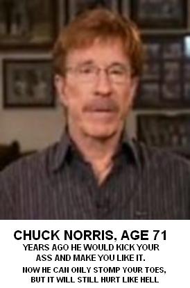 CHUCK NORRIS, AGE 71 -...