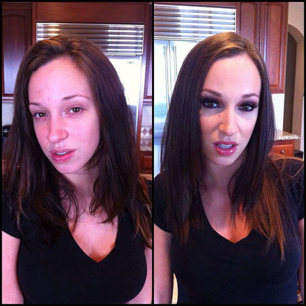 35 Pornstars Before And After Makeup - Wow Gallery  Ebaum -4913