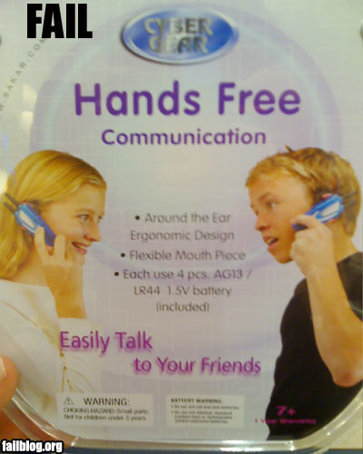 Did you guys hear about those new hands free phones?